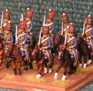 15mm, Napoleonic British 3rd KGL Hussars AB 12 figures (1)